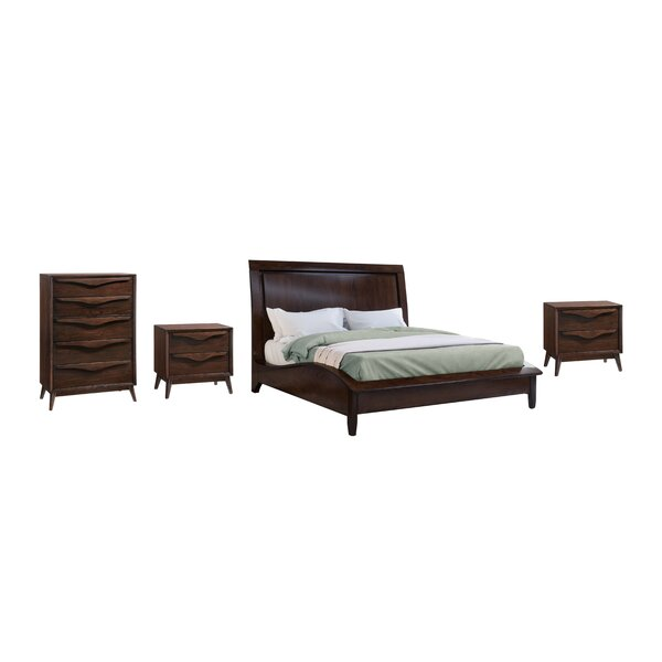 Lannon Platform Solid Wood 4 Piece Bedroom Set by George Oliver