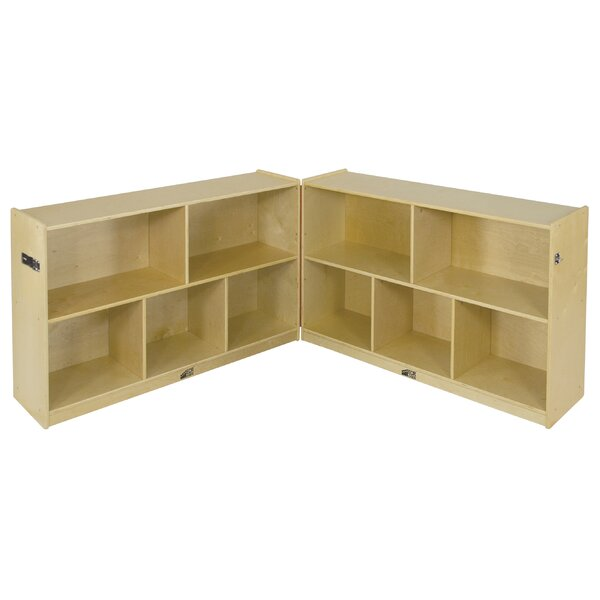 Folding 10 Compartment Shelving Unit with Casters
