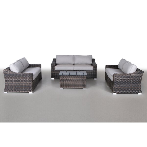 Dayse 7 Piece Rattan Sofa Seating Group with Cushions by Sol 72 Outdoor