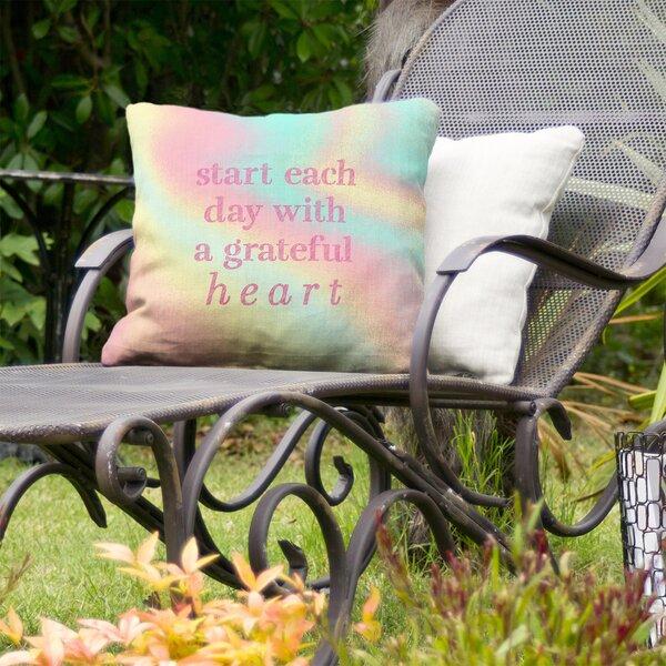 Gratitude Inspirational Indoor/Outdoor Throw Pillow