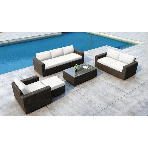 Glen Ellyn 5 Piece Sofa Seating Group with Sunbrella Cushions by Everly Quinn