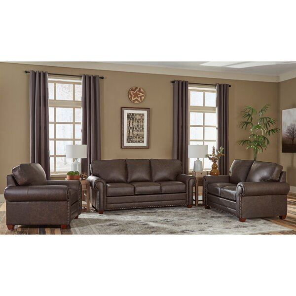Lexus 3 Piece Leather Living Room Set by 17 Stories 17 Stories