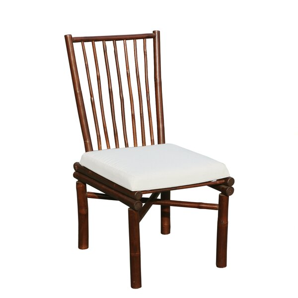 Patio Dining Chair with Cushion by ZEW Inc