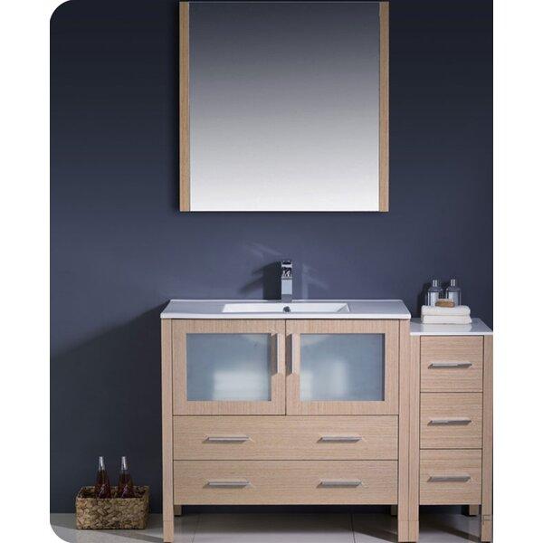 Torino 48 Single Bathroom Vanity Set with Mirror by Fresca