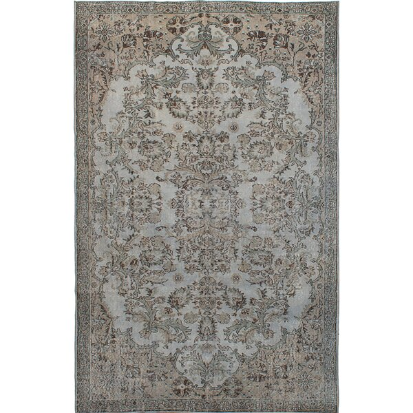 One-of-a-Kind Hand-Knotted Gray Area Rug by ECARPETGALLERY