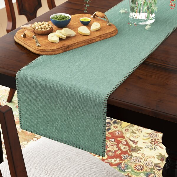 Kaiser Whip Stitched Table Runner by Three Posts