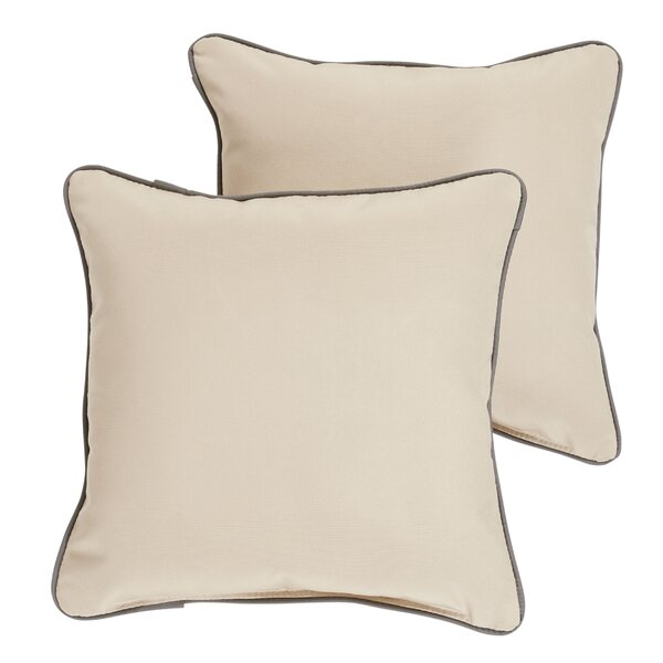 Rosewood Indoor/ Outdoor Sunbrella Throw Pillow by Bay Isle Home