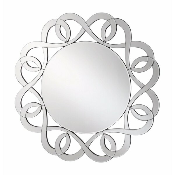 Amabel Decorative Round Frameless Accent Mirror by House of Hampton