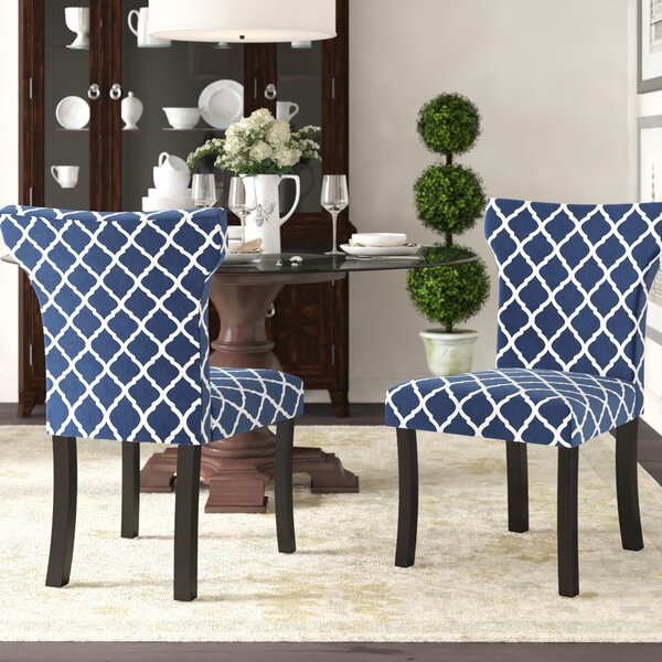 Hessie Lattice Upholstered Side Chair by Charlton Home