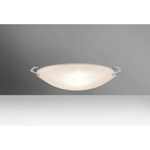 Price Check Sonya 1-Light Outdoor Flush Mount By Besa Lighting