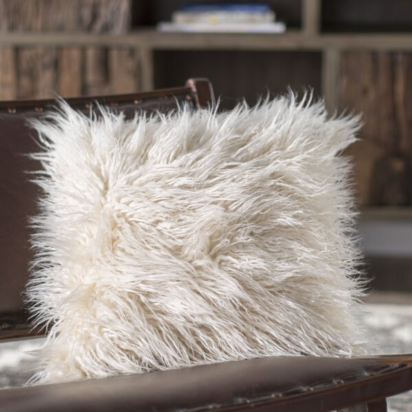 Faux Fur Throw Pillow by Mercury Row