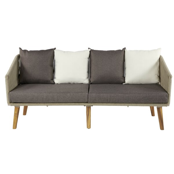 Bean Patio Sofa with Cushions by Bay Isle Home