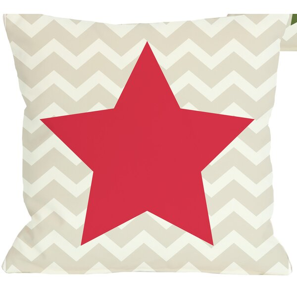 Chevron Star Reversible Throw Pillow by One Bella Casa