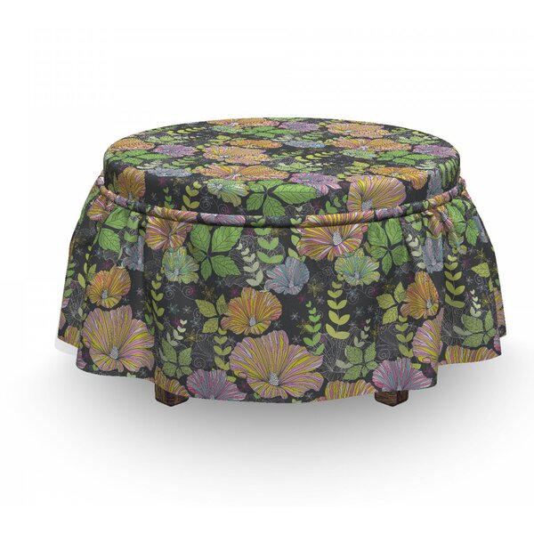 Botanical Romantic Ottoman Slipcover (Set Of 2) By East Urban Home
