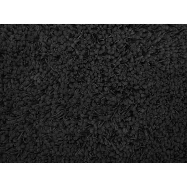 Shag Plus Black Indoor Area Rug by L.A. Rugs