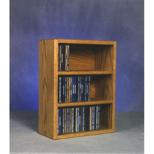 300 Series 78 CD Multimedia Tabletop Storage Rack by Wood Shed