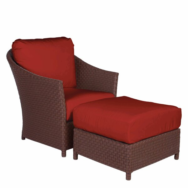 George Town Lounge Chair and Ottoman with Cushion by Acacia Home and Garden