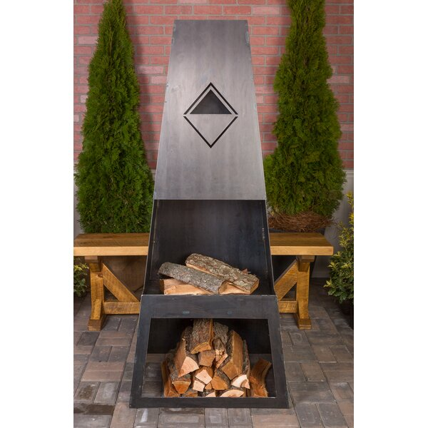 Ember Max Steel Wood Burning Outdoor fireplace by Ember Haus