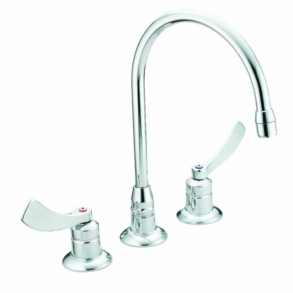 M-Dura Widespread Double Handle Kitchen Faucet By Moen