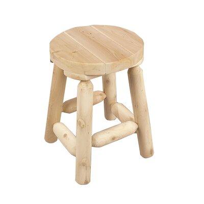 "18"" Bar Stool Rustic Natural Cedar Furniture Finish: Natural"