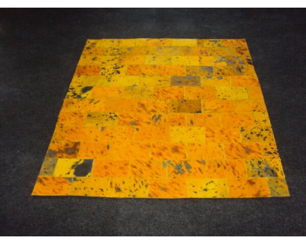 Patchwork II Yellow Citrine Area Rug by Modern Rugs