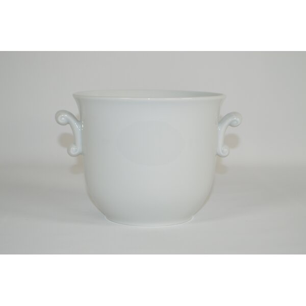 Fabiola Scroll Handled Cache Ceramic Pot Planter by The French Bee