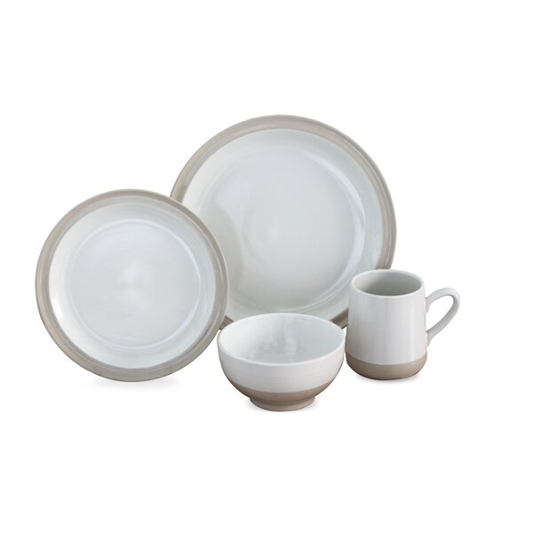 Grayden 16 Piece Dinnerware Set, Service for 4 by Baum