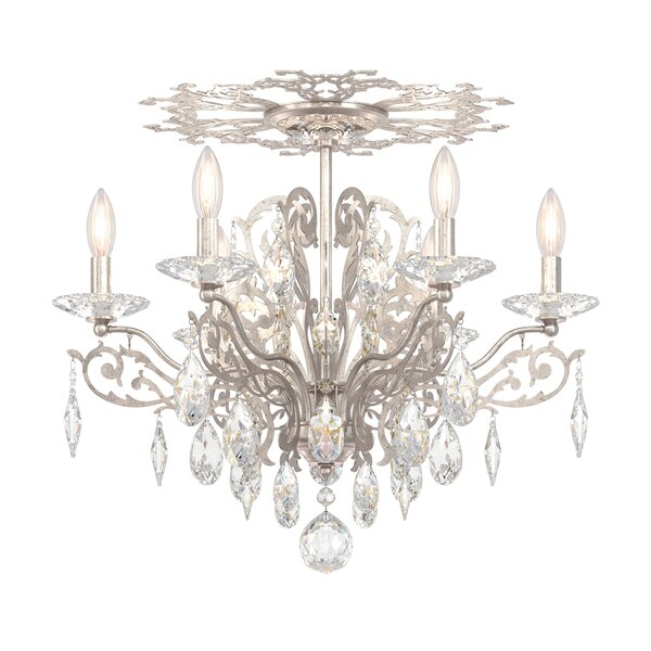Filigrae 6-Light Candle Style Chandelier by Schonbek
