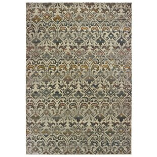 Reviews Canaday Black/Gray Area Rug ByCharlton Home