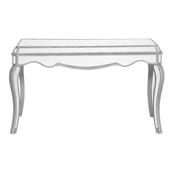 Orpha Glass Top Writing Desk by Rosdorf Park