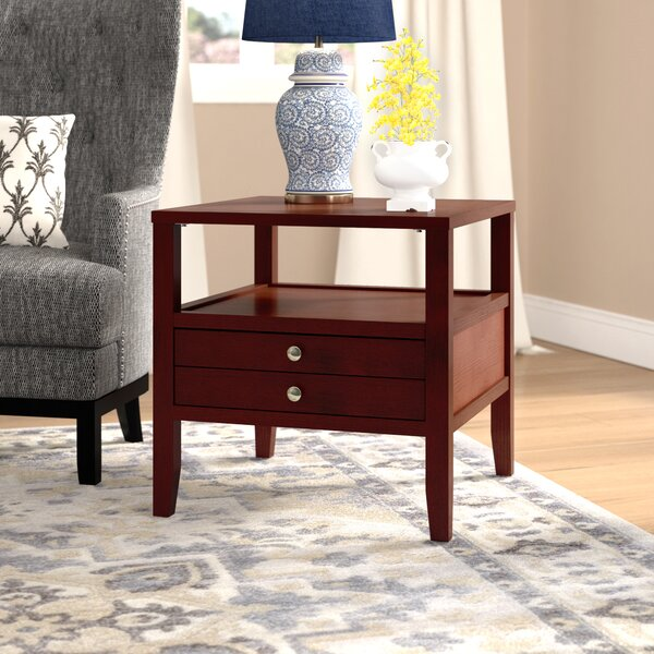 Millville End Table with Storage by Three Posts