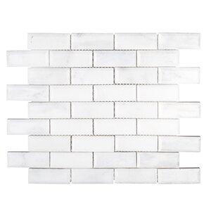 Winter Solstice 11.63x 11.5 Igloo Mosaic Tile in White by Kellani
