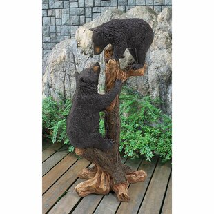 Climbing Cubs Bear Statue