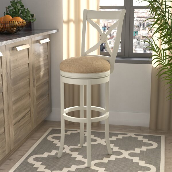 Nasturtium 34 Swivel Bar Stool by Lark Manor
