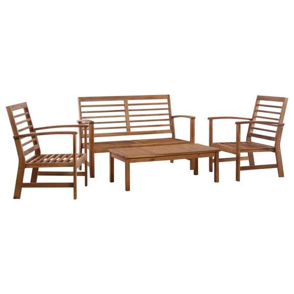 Durbin Garden 4 Piece Sofa Seating Group by Millwood Pines Millwood Pines