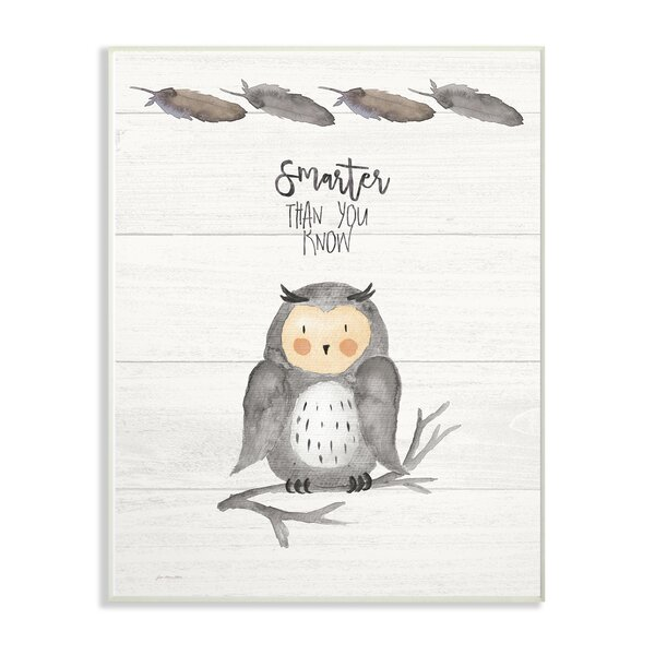 Fenderson Smarter Than You Know Owl Decorative Plaque by Harriet Bee