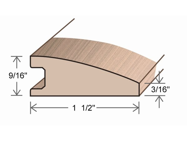 0.56 x 1.5 x 78 Solid Eucalyptus Reducer by Moldings Online