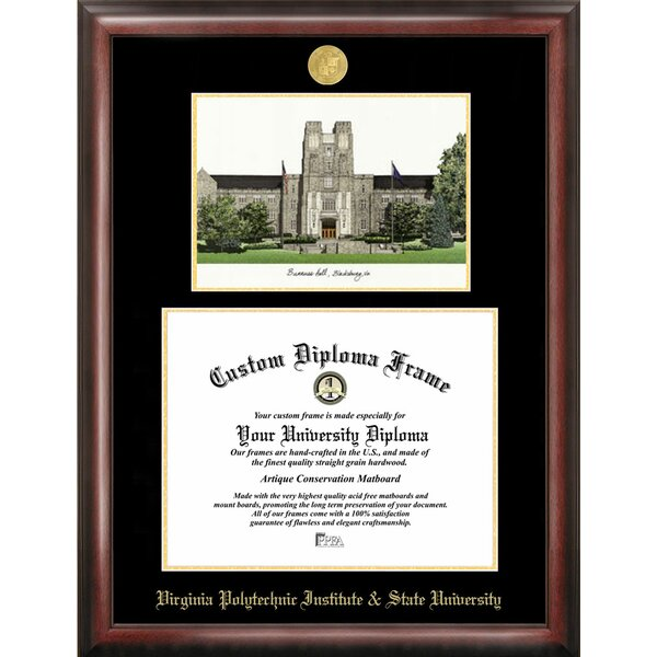 NCAA Virginia Tech Diploma Lithograph Picture Frame by Campus Images