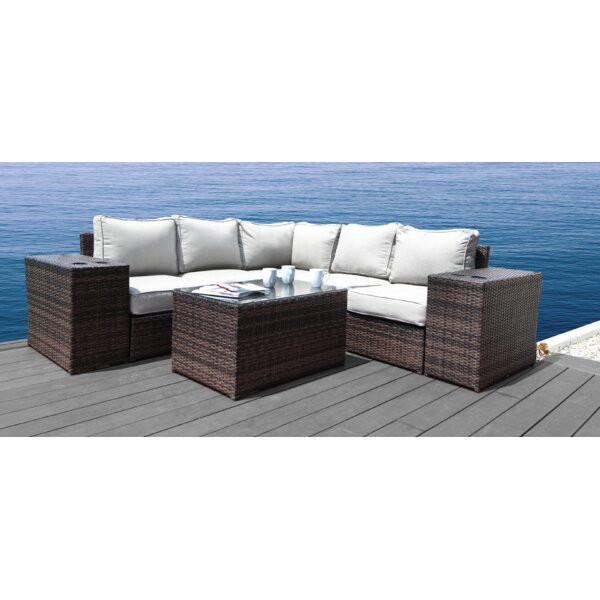 Almyra 8 Piece Sectional Seating Group with Cushions by Sol 72 Outdoor