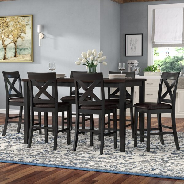 Nadine 7 Piece Pub Table Set by Darby Home Co