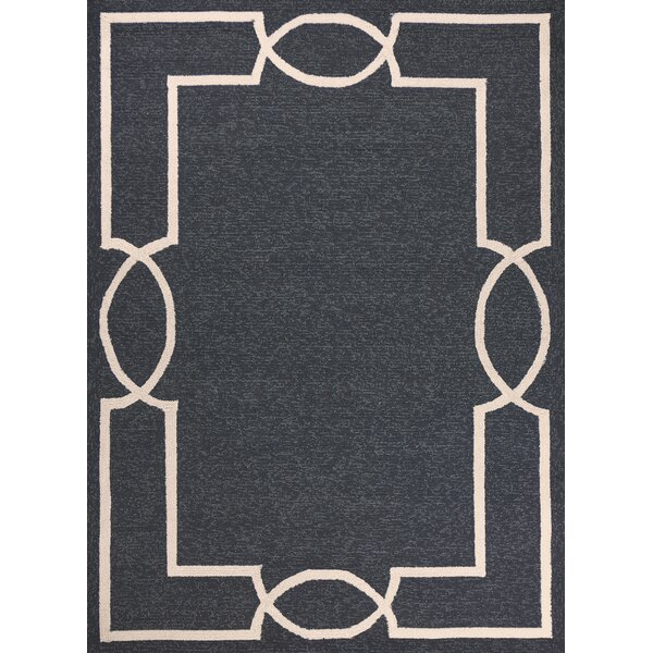 Hamptons Madison Hand-Hooked Onyx Indoor/Outdoor Area Rug by Libby Langdon