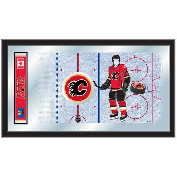 NHL Hockey Rink Mirror Framed Graphic Art by Holla