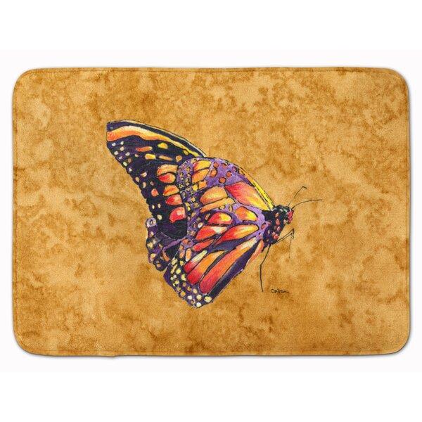 Butterfly Rectangle Microfiber Non-Slip Bath Rug
