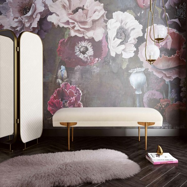 Sadie Upholstered Bench by Everly Quinn Everly Quinn