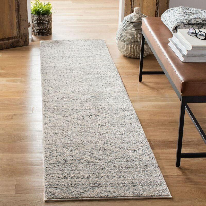 Union Rustic Remer Ivory Gray Area Rug