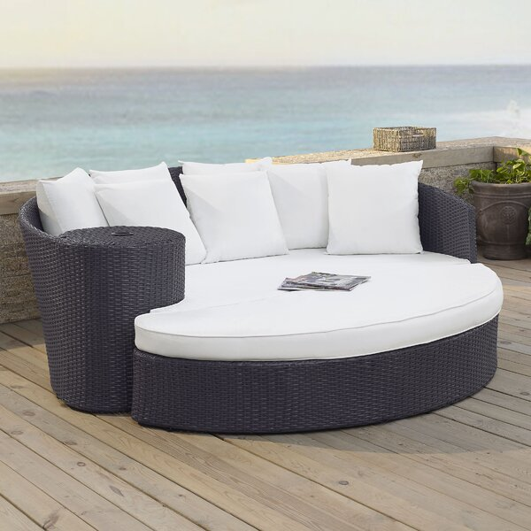 Seaton Patio Daybed with Cushions by Sol 72 Outdoor