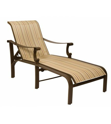 Bungalow Reclining Chaise Lounge by Woodard