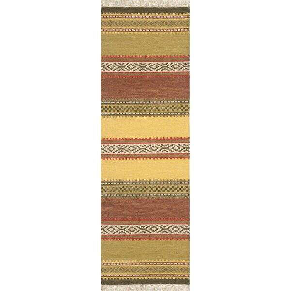 Lodge Handwoven Flatweave Wool Green Area Rug by Continental Rug Company