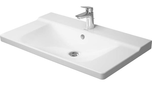 P3 Comforts Ceramic Rectangular Vessel Bathroom Sink with Overflow by Duravit