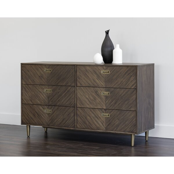 Great price Zenn 6 Drawer Double Dresser By Sunpan Modern Sale